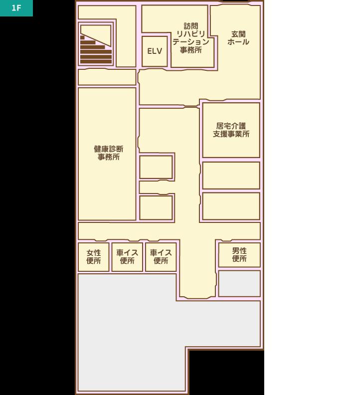 介護棟マップ 1F